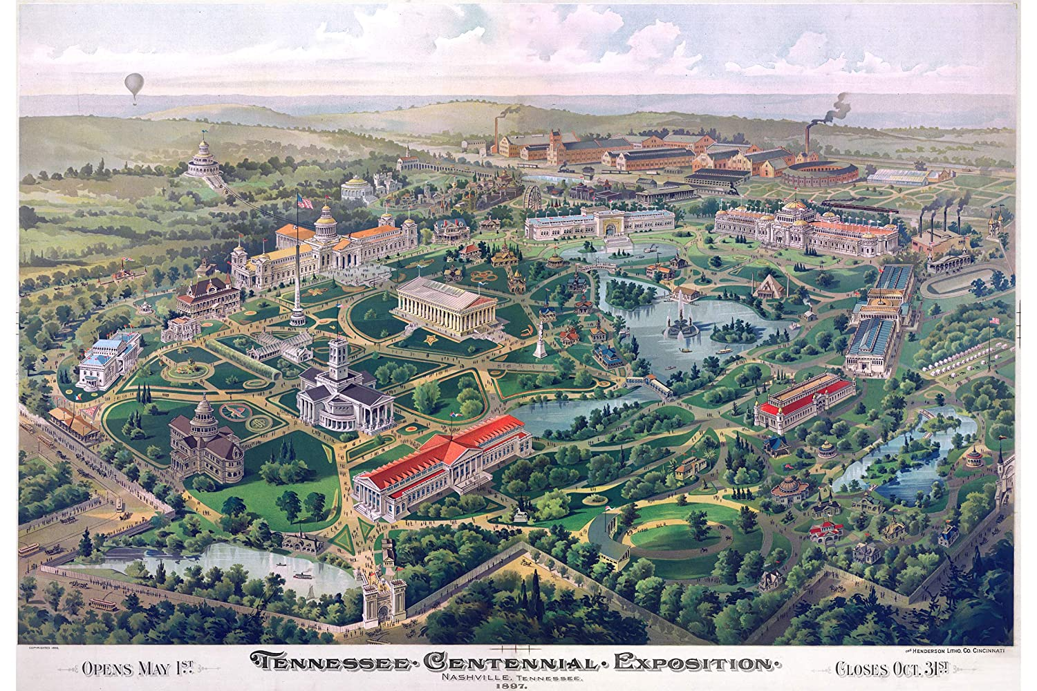 Amazon.com: History Prints Map of The Tennessee Exposition ...