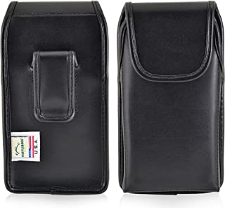 product image for Turtleback Holster Compatible with Kyocera DuraForce PRO E6810 E6820 E6830 Black Vertical Belt Case Leather Pouch with Executive Belt Clip Made in USA