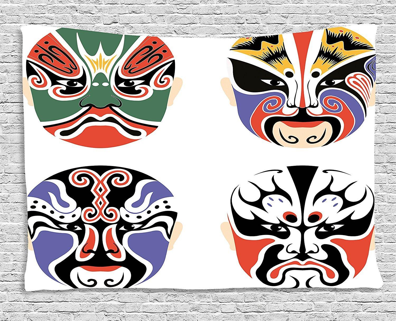 Jjonepin Kabuki - Juego de máscara de decoración tradicional china ...