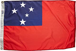 product image for Annin Flagmakers Model 197152 Western Samoa Flag Nylon SolarGuard NYL-Glo, 2x3 ft, 100% Made in USA to Official United Nations Design Specifications