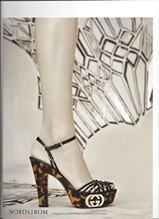 c9c8b6df696 Amazon.com  Magazine Ad For Nordstrom Silver 2009 Gucci Shoes   Entertainment Collectibles