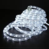 Amazon wide loyal 150ft roll of warm white led rope light direct lighting 24ft super bright heavy duty cool white rope lights with 288 leds aloadofball Images