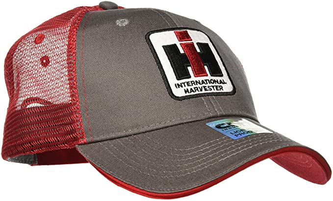Amazon.com  Case IH Trucker Hat Cap in Charcoal and Red  Clothing 89d1fabddee8