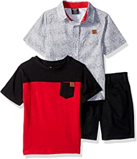 American Hawk Boys' Toddler Classic Woven, T-Shirt, and Short Set