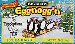 Bigelow Limited Edition Tea Eggnogg'n 18 Bags Per Box Pack of 3 Boxes