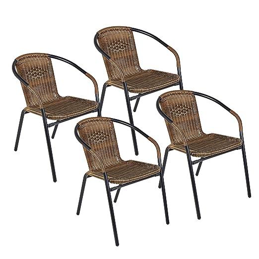 Amazon.com: Porthos Home UCS001A-So4 BRN - Juego de 4 sillas ...