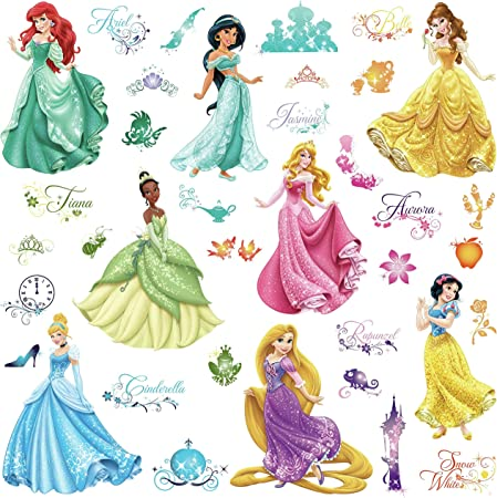 DISNEY PRINCESS GROUP Decal Removable WALL STICKER Home Decor Art FREE SHIPPING