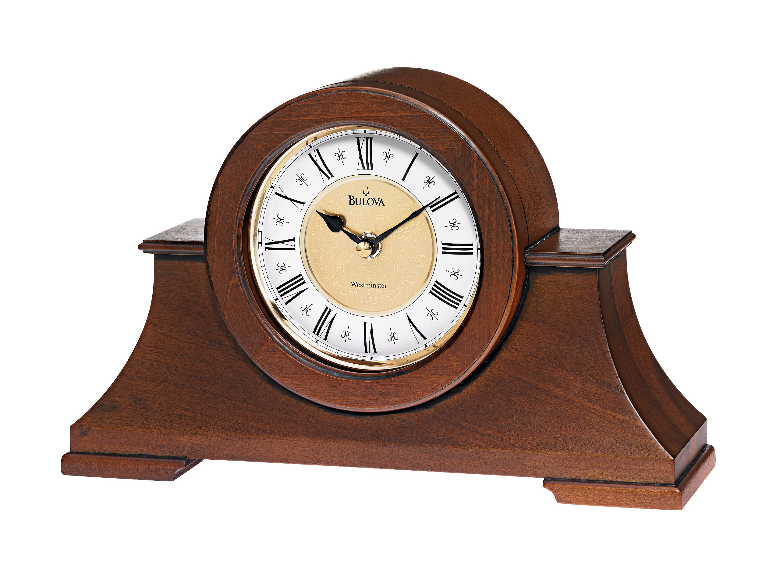 Cambria Mantel Clock with Westminster Chime by Bulova