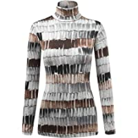 MBJ Womens Textured Knit Turtleneck Long Sleeve Pullover Sweater - Made in USA