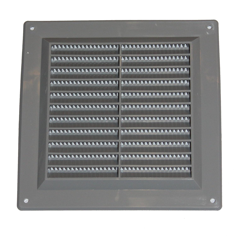 Rejilla de ventilaci/ón de pl/ástico de aire para 150/mm x 150/mm gris