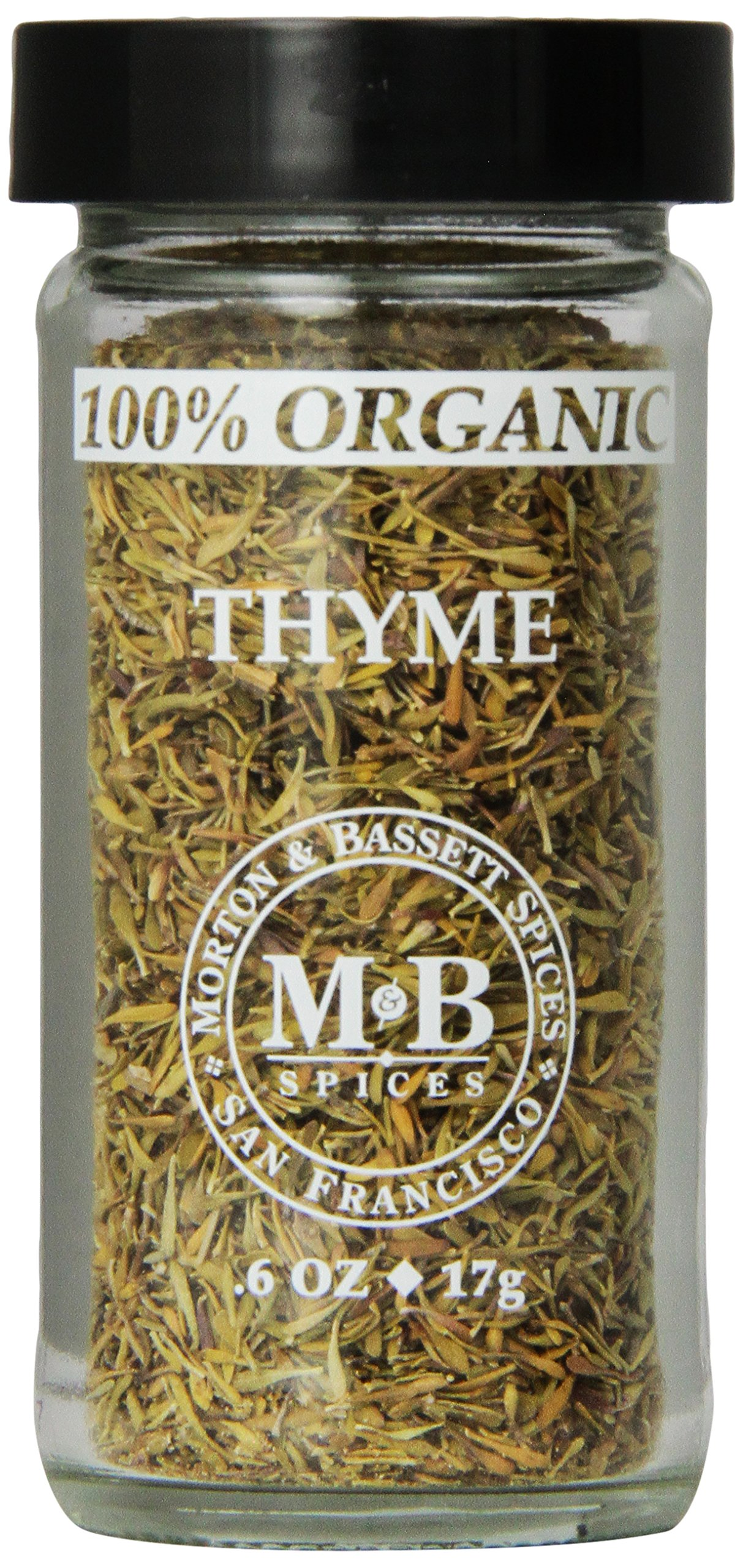 Morton & Basset Spices, Organic Thyme, 0.6 Ounce (Pack of 3)