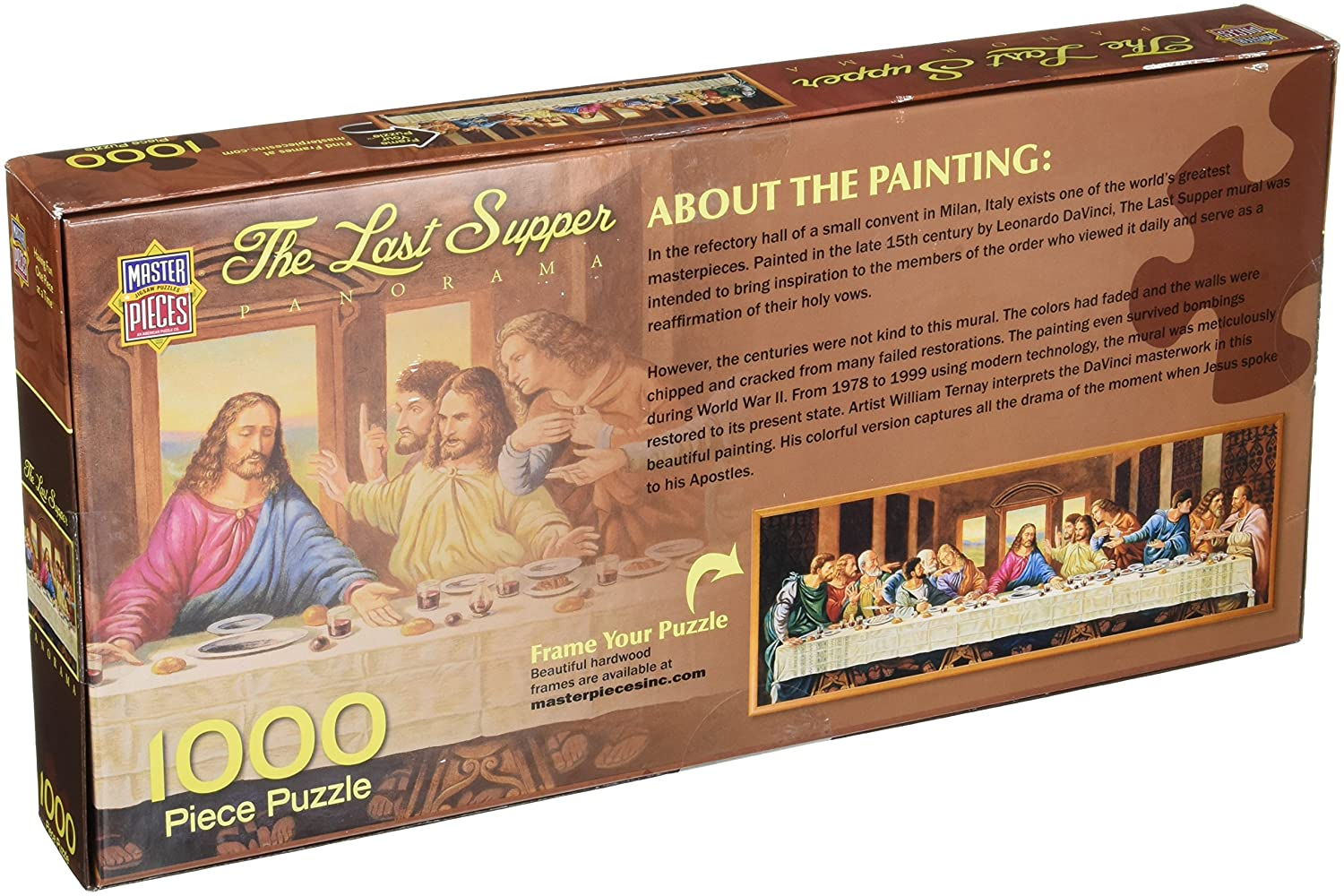 amazoncom masterpices the last supper panoramic jigsaw puzzle 1000 piece toys games