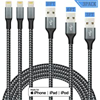 3-Pack IDiSON Apple MFi Certified iPhone Lightning Cable