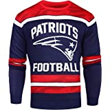 Forever Collectibles NFL New England Patriots Ugly Glow in The Dark Sweater, Medium