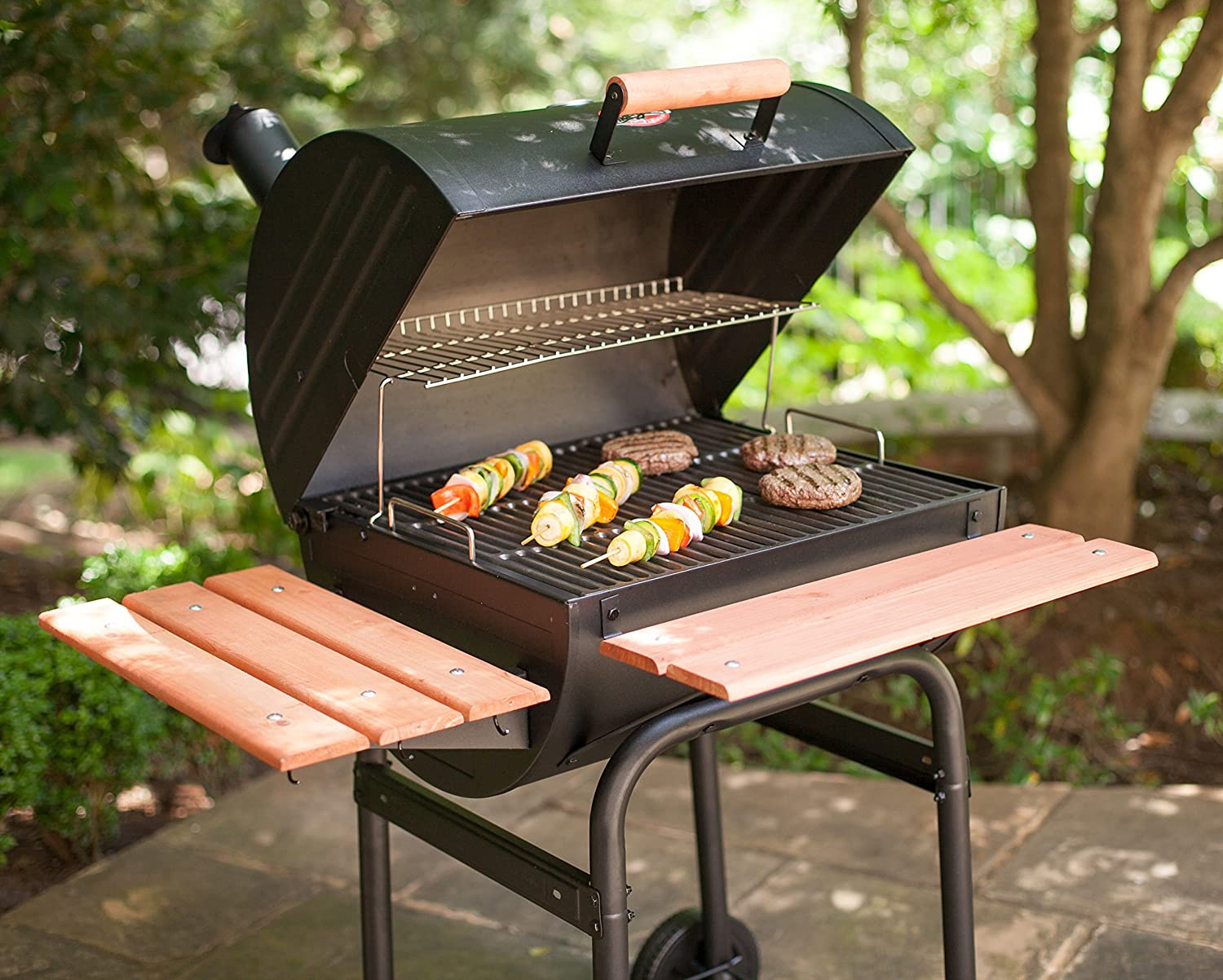 Char Griller 2123 Wrangler 635 Square Inch Charcoal Grill / Smoker:  Amazon.co.uk: Garden U0026 Outdoors