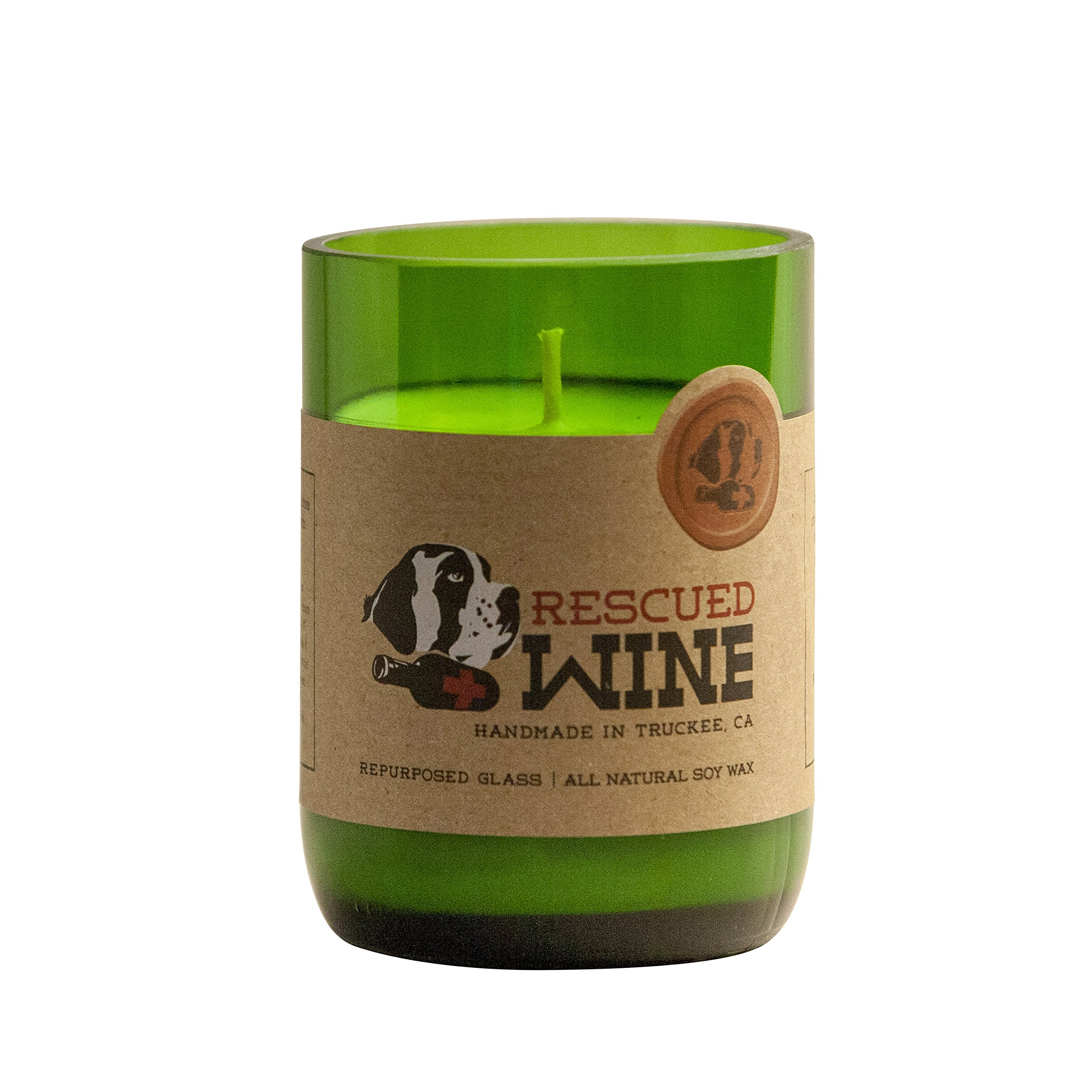 Rescued Wine Recycled Wine Bottle Soy Wax Candle, Cabernet