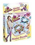Totum Soy Luna Bastel-Set: Armbänder in Regenbogen-Farben – zum Selber Verzieren mit Anhängern, Perlen und Motiven aus der Disney Fernsehserie