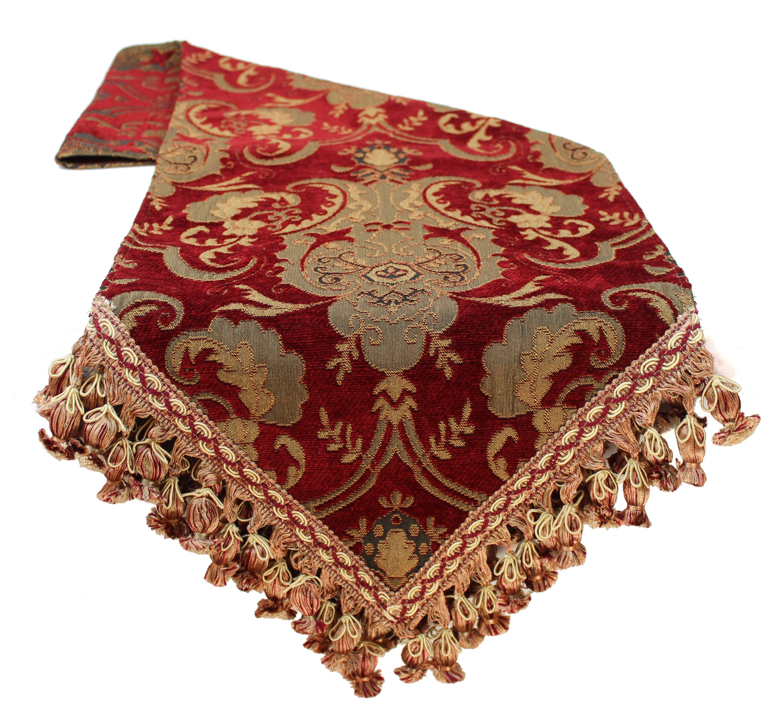 Sherry Kline China Art Table Runner, 13'' x 90'', Red