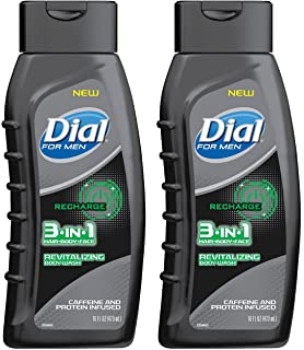 Dial for Men 3 in 1 Hair + Body + Face Revitalizing Body Wash, 16