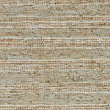 Stone & Beam Striped Leather Area Rug, 8 x 10 Foot, Beige