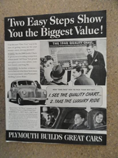 Amazon com: 1940 Plymouth car, Vintage 40's full page print