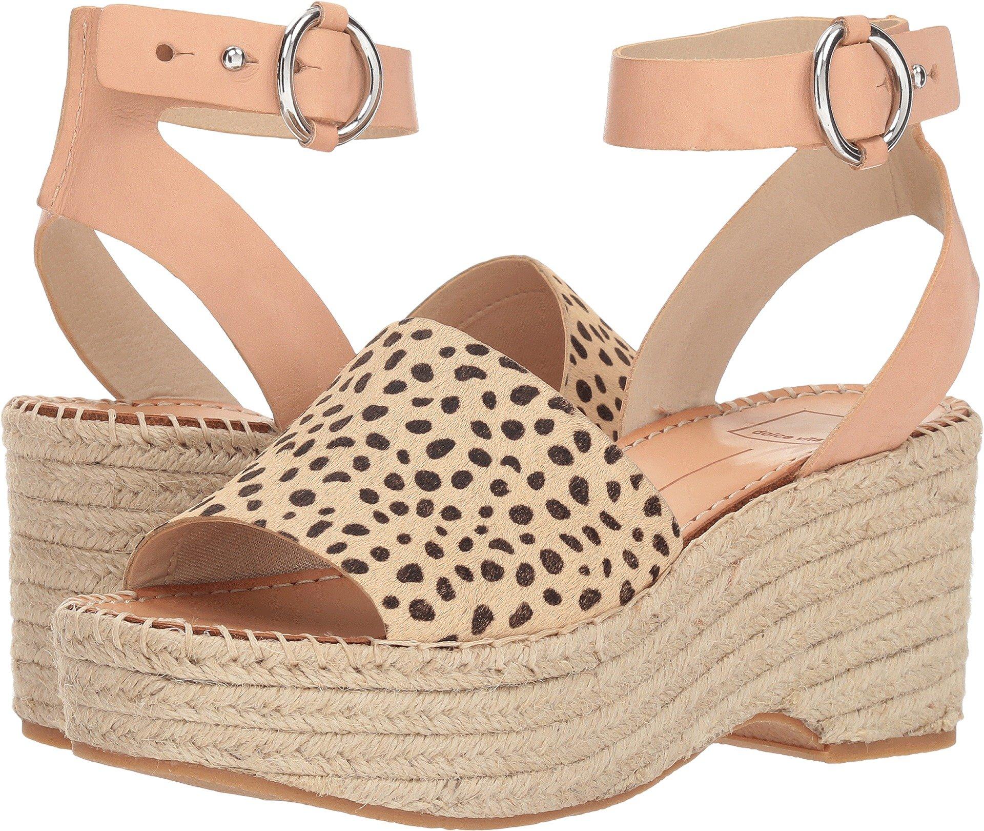 449f6526a8 Galleon - Dolce Vita Women's Lesly Wedge Sandal, Leopard Calf Hair, 6 M US