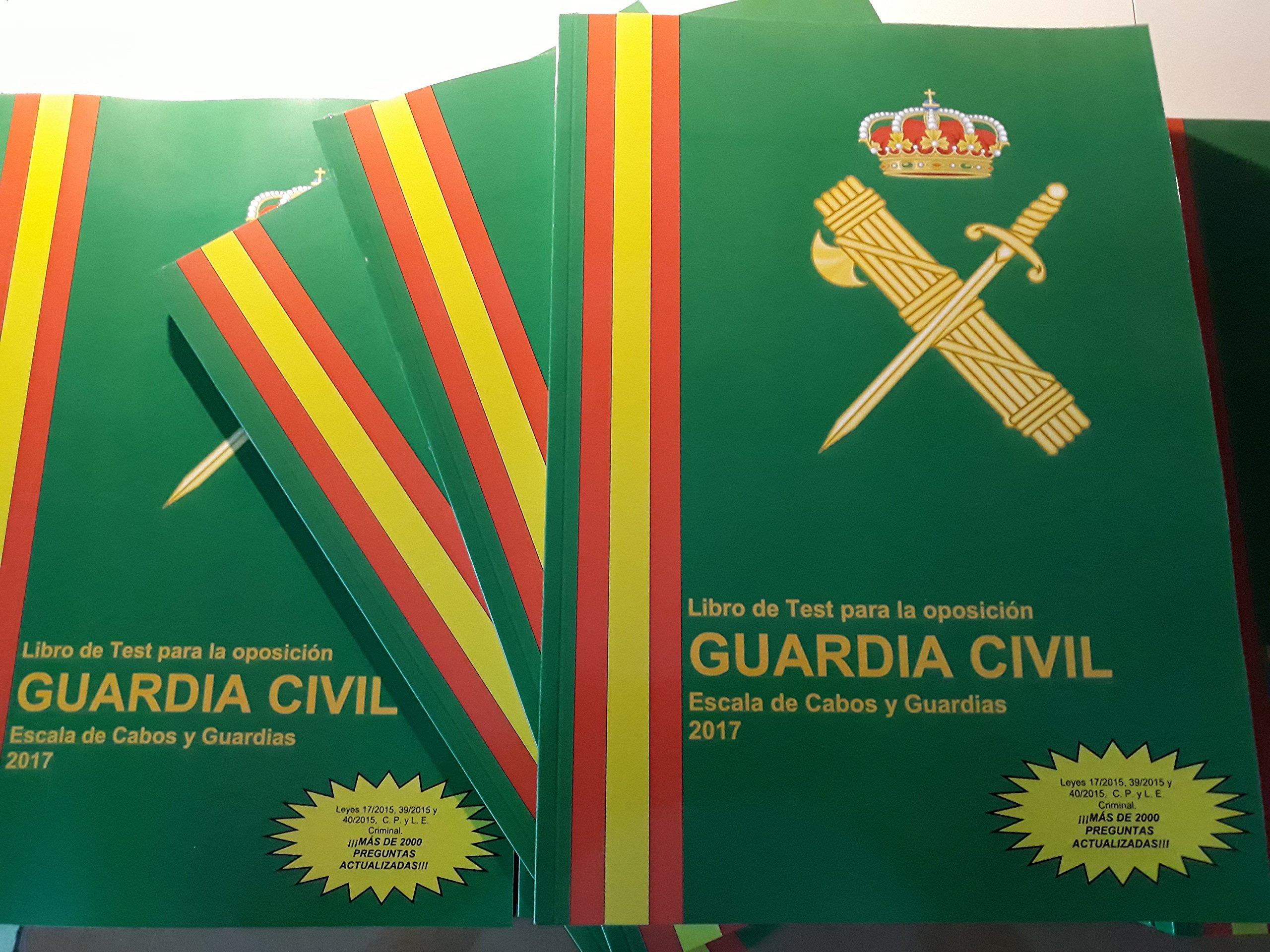 Libro de test para la oposición Guardia Civil 2017 2018: Amazon.es: Ediciones García Salguero: Libros