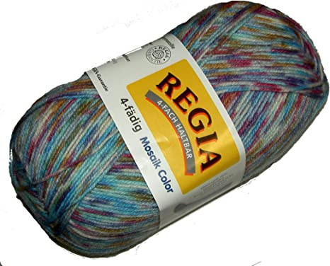 7,30€//100g Regia Sockenwolle 150g 6fädig Color Farbe  01145 broken grey color