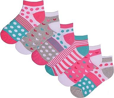 GIRLS PINK SPOTTED SOCKS SIZE 6-8.5 CUTE POLKADOT ANKLE SOCKS 1 PAIR BRAND NEW