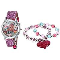 Girls' Quartz Watch with Rubber Strap, Multicolor, 13 (Model: JOJ40050AZ)