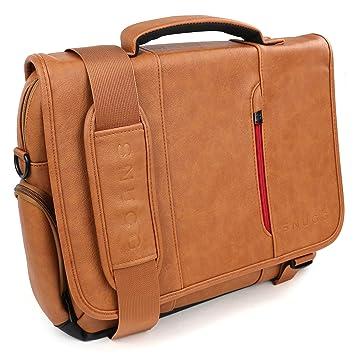 Snugg Maletín para Ordenador de Cuero Marrón para Portátiles, Notebooks de hasta 39,6 cm (15,6 pulgadas): Amazon.es: Electrónica
