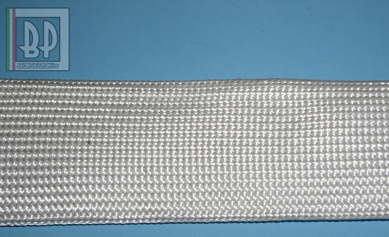 diam/ètre 4/mm couleur blanc Gaine ignifuge isolant en fibre de verre trecciata temp/érature 550//°C quantit/é 10/m/ètres protection thermique hautes temp/ératures