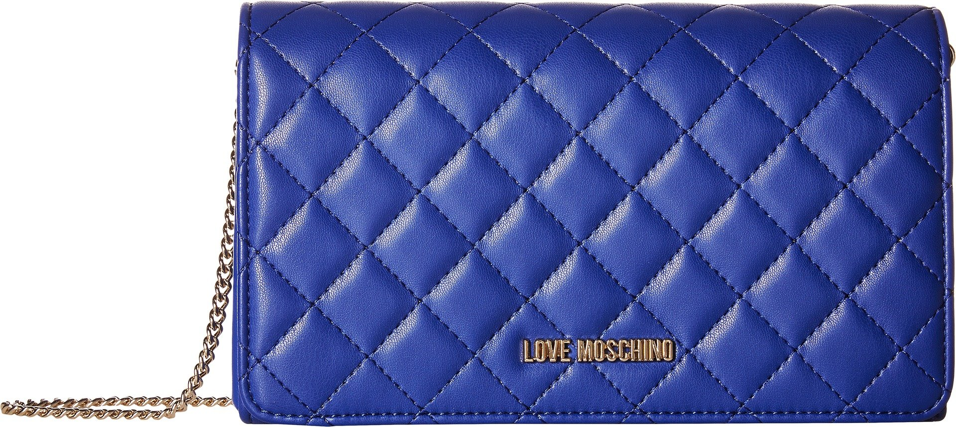 LOVE Moschino Women's Quilted Evening Clutch Navy One Size