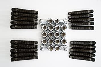 M12 X 1.5 Stud Kit De Conversión Para Bmw Inc Tuercas 20 Negro