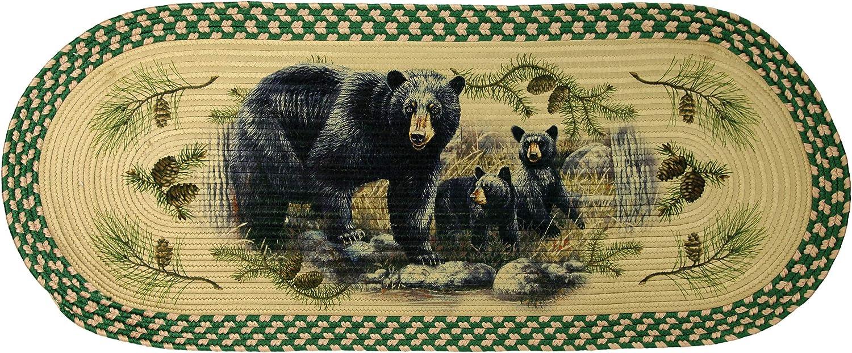 Bear Rivers Edge 2534 Braided Rug 48-inch Oval
