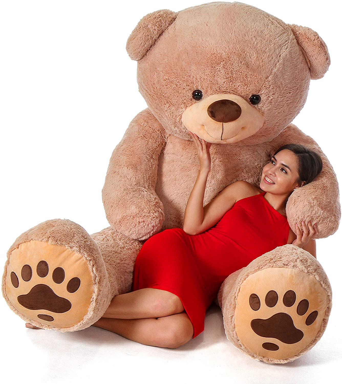 Amazon Com Giant Teddy Brand Premium Quality Giant Stuffed Teddy Bear Amber Tan 7 Foot Toys Games Check out our teddy bear clipart selection for the very best in unique or custom, handmade pieces from our craft supplies & tools shops. giant teddy brand premium quality giant stuffed teddy bear amber tan 7 foot