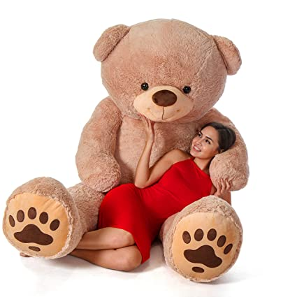 9faf80cdac6 Amazon.com  Giant Teddy Brand - Premium Quality Giant Stuffed Teddy Bear  (Amber Tan
