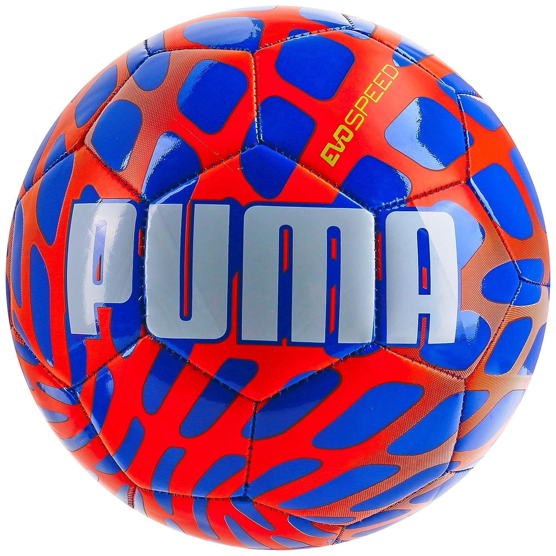 Puma Balón de fútbol EVO Speed 5,4 Frame, Azul eléctrico Limonada ...