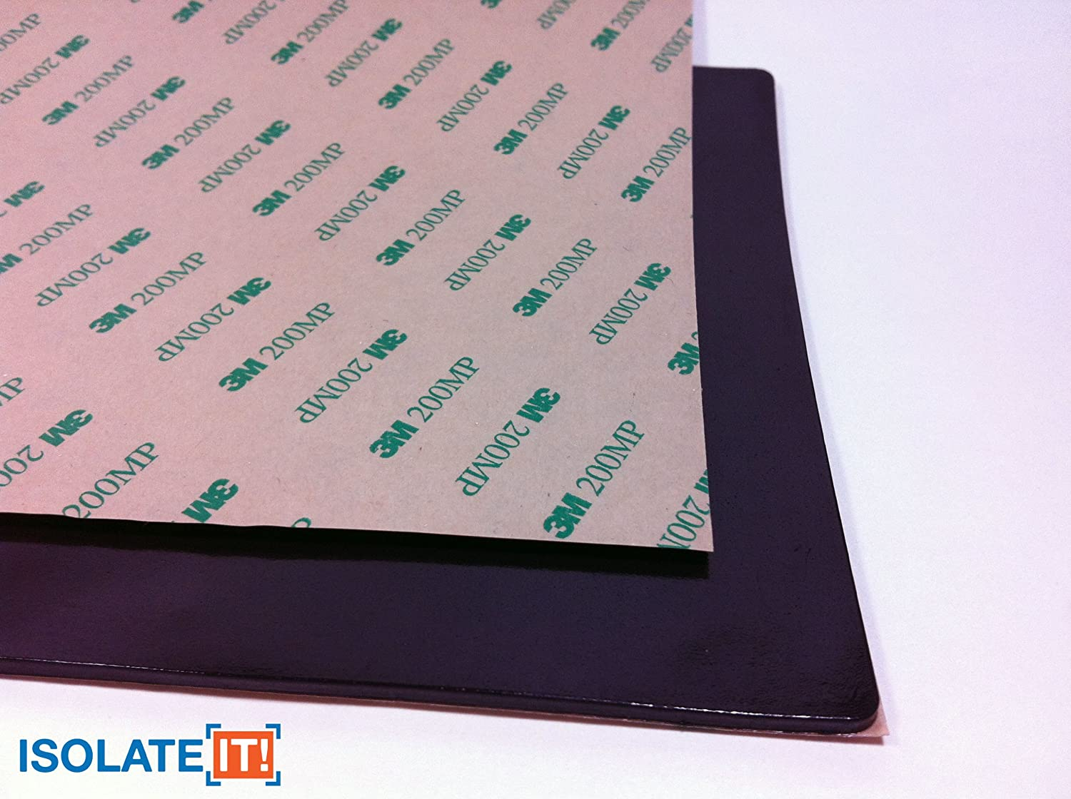 0.188 x 6 x 12in 0206119-60 Sorbothane Acoustic /& Vibration Damping Film 60 Duro with 3M Adhesive Backing Isolate It!