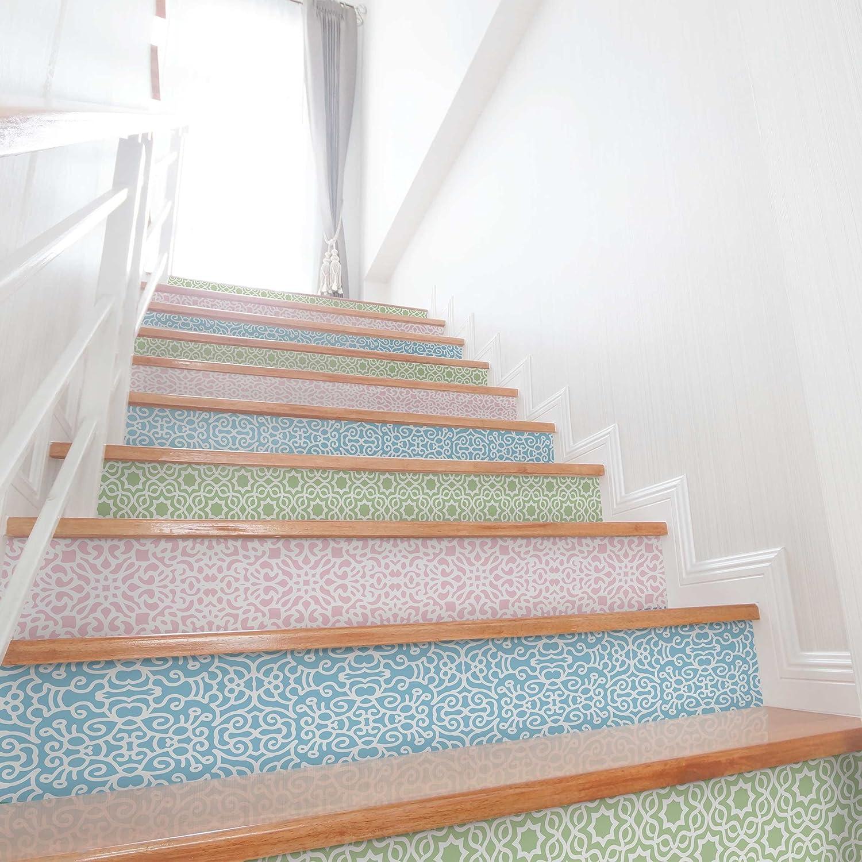 Folie für Möbel Set - 3 Arabische Muster in Pastelltönen - Rosé Mint Pastellblau, Größe HxB  150cm x 100cm