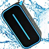 Ultra-Portable Bluetooth Wireless Speaker Waterproof - Lightweight, Shower Safe for Indoor, Outdoor - Super Loud Bass - Maximum Power 10 Hour Playback -  Microphone for Hands-Free Calls by BoneSound