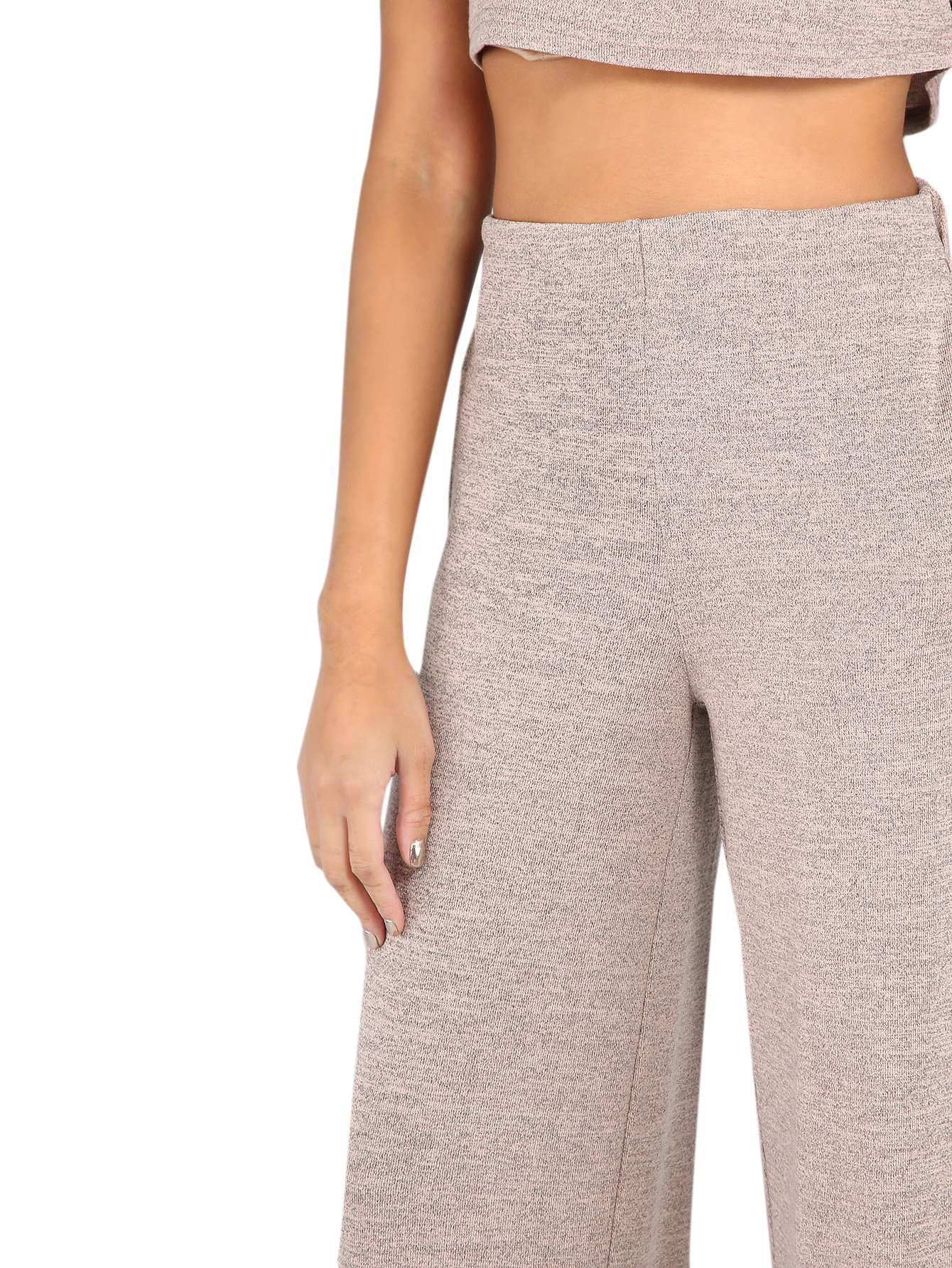 Verdusa Women's Sporty 2 Pieces Sets Loose Crop Top and Wide Leg Pants Blush L by Verdusa (Image #5)