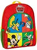Disney Mochila para Niños Mickey Mouse Donald Duck Pluto Goofy Rojo