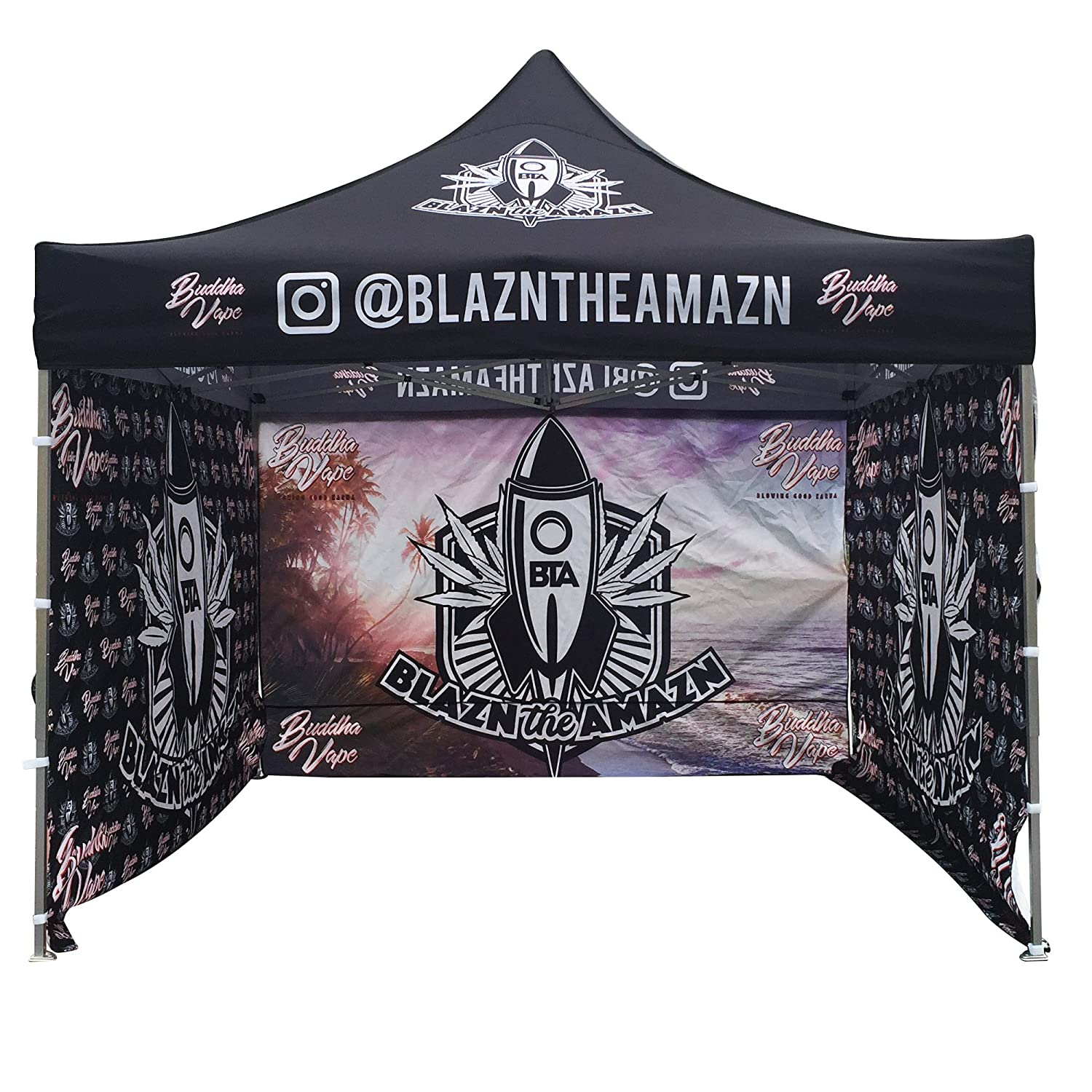 934e97ed6183 Amazon.com   10 x 10 Custom Graphics Printed Pop up Tent Canopy Tradeshow  Conference   Event Booth Custom Walls Available (10 x 10  Canopy