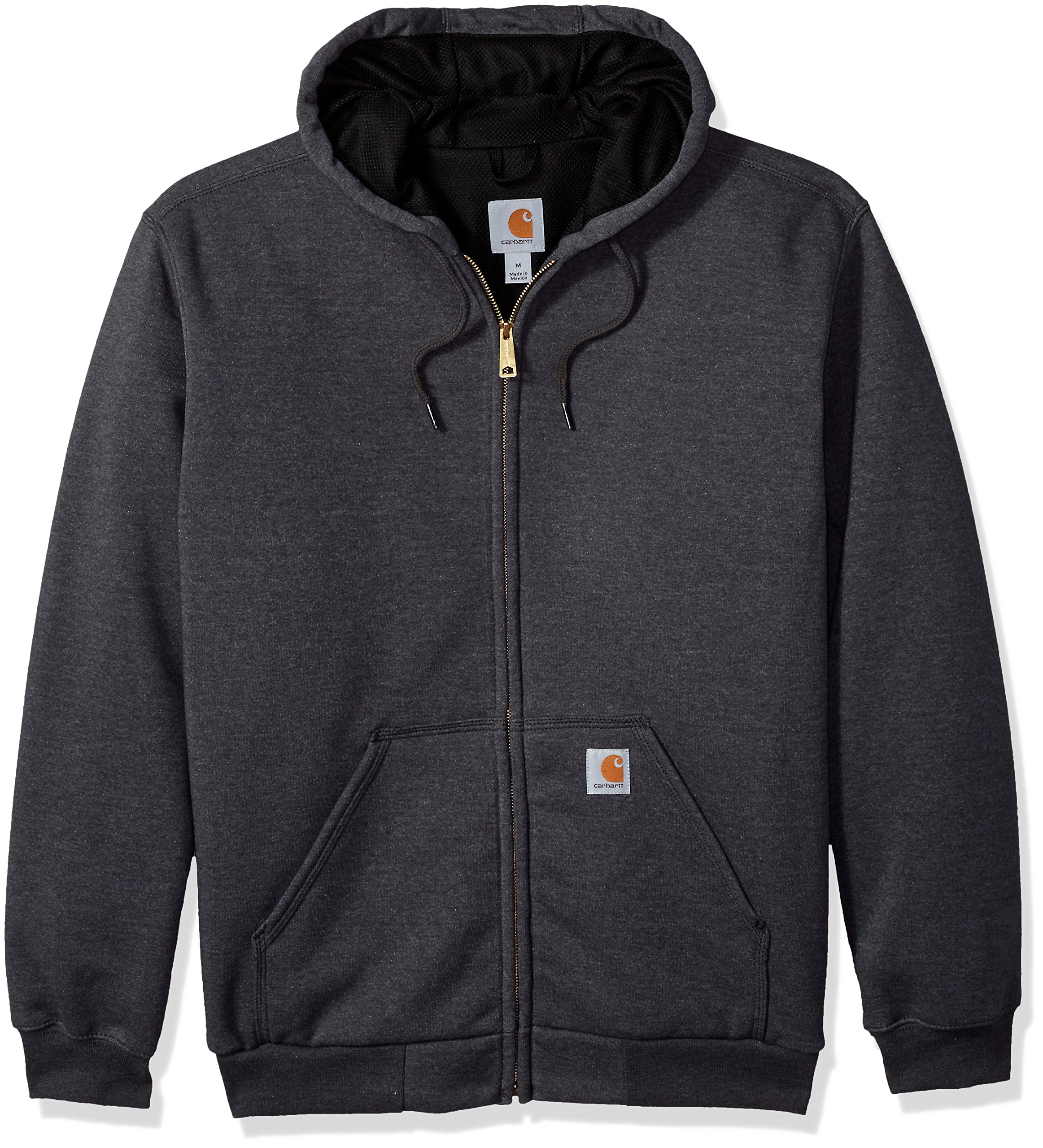 Carhartt Men's RD Rutland Thermal Lined Hooded Zip Front Sweatshirt, Carbon Heather - New 2X-Large
