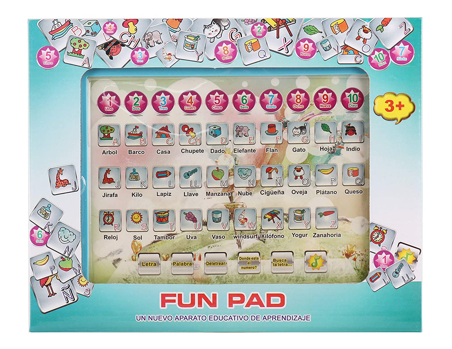 Amazon.com: Pasaca Toys Kids Learning Pad Spanish Fun Pad ...