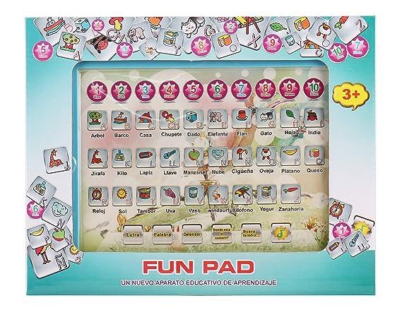 Amazon.com: Pasaca Toys Kids Learning Pad Spanish Fun Pad ...