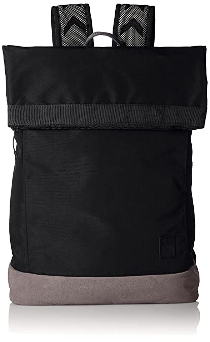 ca98d32e9b Puma Black and Light Grey Laptop Backpack (7488401)  Amazon.in  Bags ...