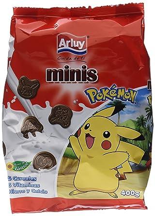 Arluy Galletas Minis Pokémon Choco - Paquete de 10 x 400 gr - Total: 4000