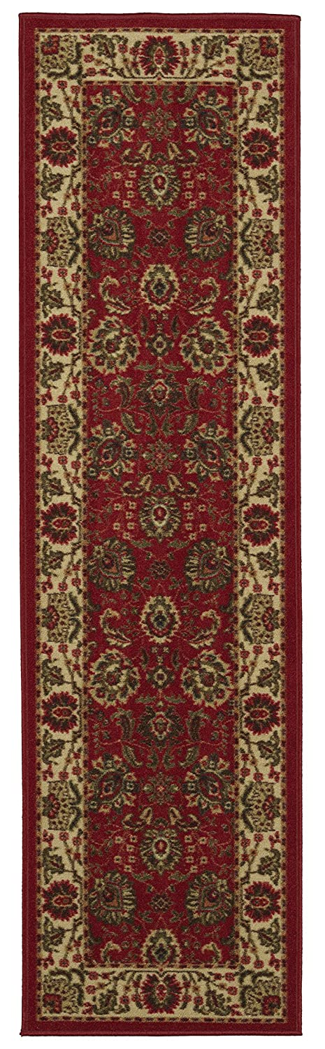 Ottomanson Ottohome Collection Persian Style Rug Oriental Rugs with Non-Skid Non-Slip 39 L x 60 W Sage Green//Aqua Blue 39 L x 60 W OTH2135-3X5 Rubber Backing Area Rug